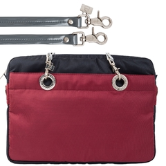 NAVY BLUE / CERISE 15-INCH SUNDAR LAPTOP BAG - buy online