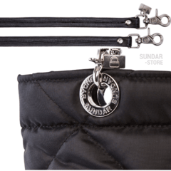 BLACK ROMBO SUNDAR ZIPPER BAG - Bolsas Sundar Originales