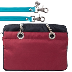 NAVY BLUE / CERISE 15-INCH SUNDAR LAPTOP BAG on internet