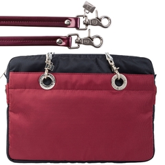 NAVY BLUE / CERISE 15-INCH SUNDAR LAPTOP BAG - online store