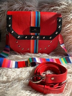Cartera Olivia Roja + 2 Correas Intercambiables!