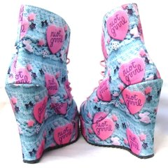 Riot Grrrl Booties - Gabbie Custom Art