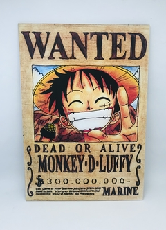 Placa One Piece Wanted
