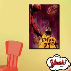 CUADRO DE LONA RECTANGULAR LEBRON JAMES # 13