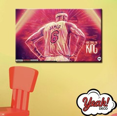 CUADRO DE LONA RECTANGULAR LEBRON JAMES # 15