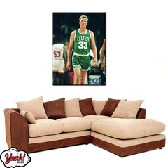CUADRO DE LONA RECTANGULAR LARRY BIRD #2
