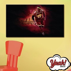 CUADRO DE LONA RECTANGULAR LEBRON JAMES # 3