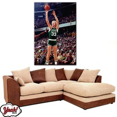 CUADRO DE LONA RECTANGULAR LARRY BIRD #8