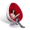 Silla Egg Pod Chair Red (PREVENTA)