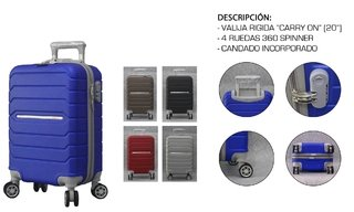 Valija Chica Rigida OWEN Carry On de 20 Pulgadas con Giro 360° OW-40010 en internet