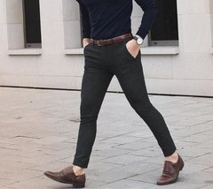 PANTALON DRIL NEGRO SLIM FIT