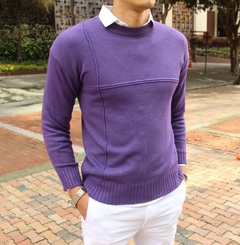Sweater morado en internet