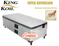 COLCHON RESORTES KING KOIL XL ADVANCE + SOMMIER KING KOIL 80X190