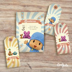 Kit imprimible personalizable Pocoyo (sin Candy Bar) en internet