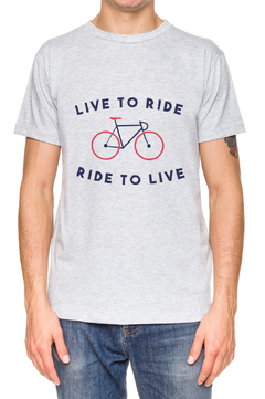 REMERA - RIDE TO LIVE - GRIS