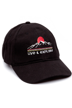 GORRA DAD HAT - LIVE & EXPLORE - NEGRA