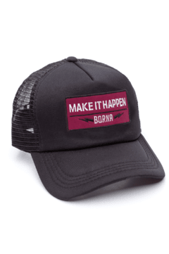 GORRA TRUCKER - MAKE IT HAPPEN BORDO - NEGRA FULL