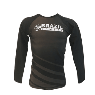 Rash Guard The Shield Marrom Mnaga Longa - Brazil Combat