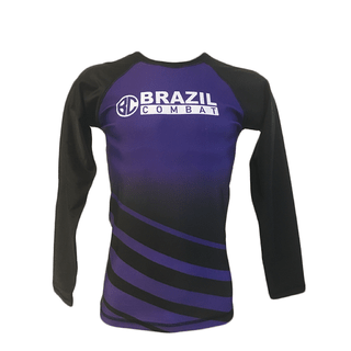 Rash Guard The Shield Roxa Manga Longa - Brazil Combat