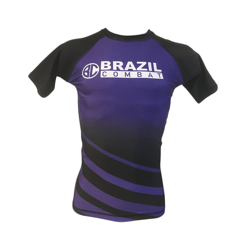 Rash Guard The Shield Roxa Manga Curta - Brazil Combat