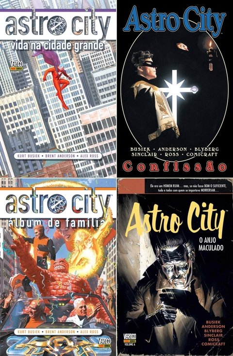 Pack Astro City vol 1, 2, 3 e 4, de Kurt Busiek e Brent Anderson
