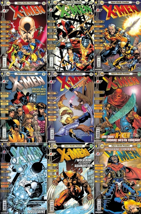 Pack X-Men Premium vol 1 a 9 - Super-Heróis Premium