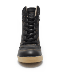 Zapatillas Taco Escondido Acordonadas All Leather Art.682 Negro - comprar online