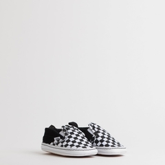 TÊNIS VANS BABY SLIP ON V CRIB CHECKER BLACK TRUE WHITE - comprar online