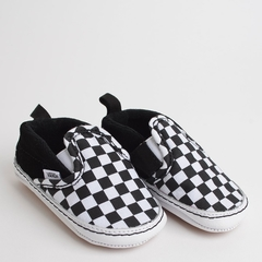 TÊNIS VANS BABY SLIP ON V CRIB CHECKER BLACK TRUE WHITE na internet