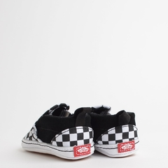 TÊNIS VANS BABY SLIP ON V CRIB CHECKER BLACK TRUE WHITE - BABYBEH