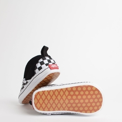TÊNIS VANS BABY SLIP ON V CRIB CHECKER BLACK TRUE WHITE - loja online