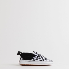 TÊNIS VANS BABY SLIP ON V CRIB CHECKER BLACK TRUE WHITE