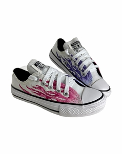 TENIS CHUCK TAYLOR ALL STAR FLAME BRANCO/ROSA CLARO