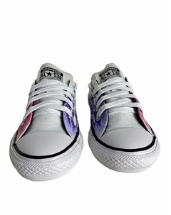 TENIS CHUCK TAYLOR ALL STAR FLAME BRANCO/ROSA CLARO na internet
