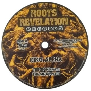 "10"" King Alpha - The Signs/Higher Level [VG]"
