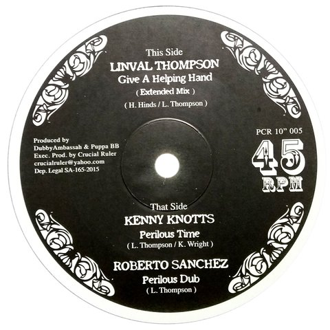 "10"" Linval Thompson/Kenny Knotts - Give A Helping Hand/Perilous Time [NM]"