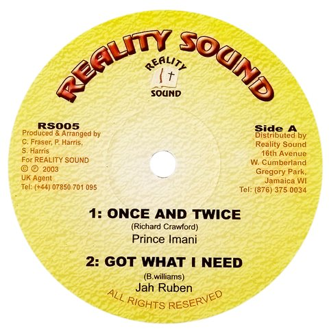 "10"" Prince Imani/Jah Ruben/Lorenzo - Once and Twice/Got What I Need/Bless Me Jah [VG+]"