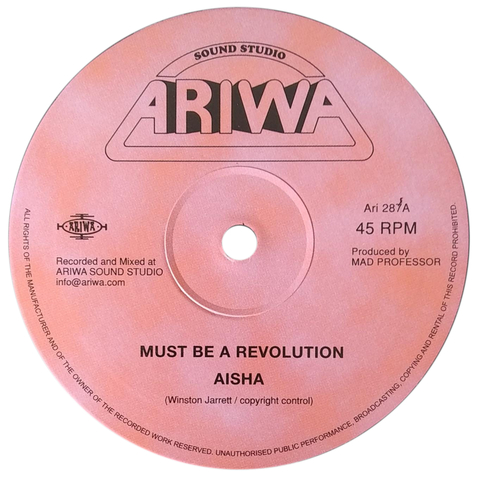 "12"" Aisha/Mad Professor - Must Be A Revolution/Must Be A Dub [NM]"