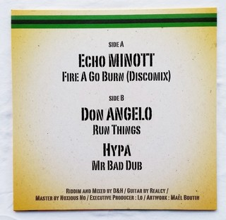 "12"" Echo Minott/Don Angelo - Fire A Go Burn/Run Things [NM] - Subcultura"