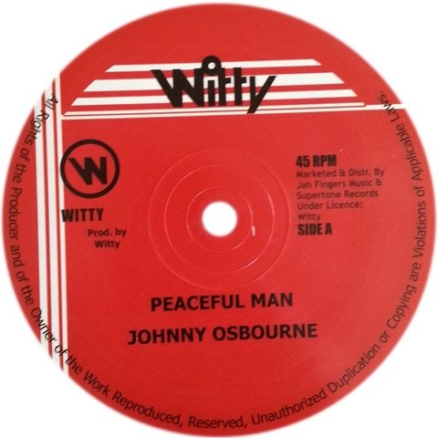 "12"" Johnny Osbourne - Peaceful Man/Version [NM]"