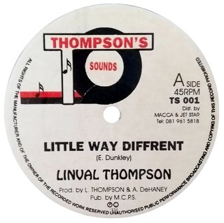 "12"" Linval Thompson - Little Way Different/Different [VG+]"
