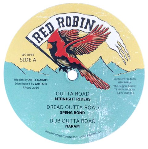 "12"" Midnight Riders/Speng Bond/Steve Knight/Tippa Lee - Outta Road/Dread Outta Road/Dem A Fraud/Salute The Veteran [NM]"