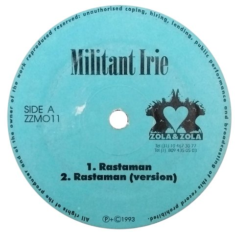 "12"" Militant Irie - Rastaman/This Love of Mine [VG]"