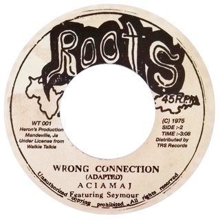 "7"" Aciamaj - Trench Town Connection/Wrong Connection [NM] - comprar online"