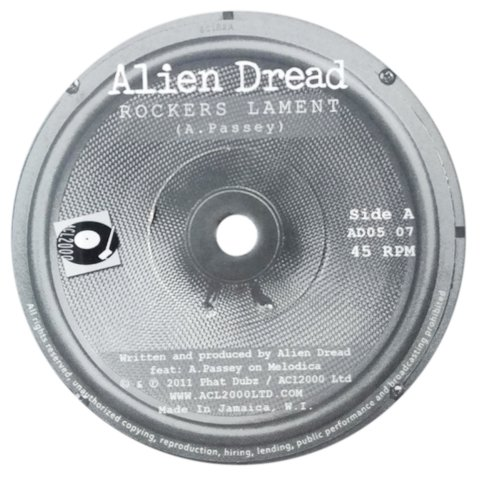 "7"" Alien Dread - Rockers Lament/Step Away [M]"