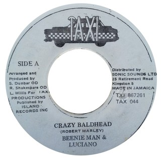 "7"" Beenie Man & Luciano - Crazy Baldhead/Version (Original Press) [VG]"