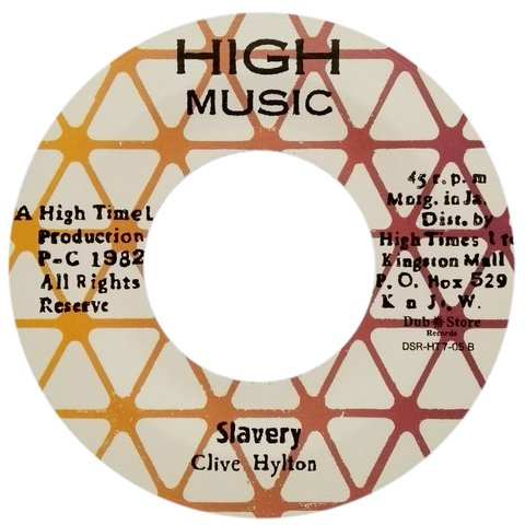 "7"" Clive Hylton/Michael White - Slavery/Cease Your Fire Arms [NM]"