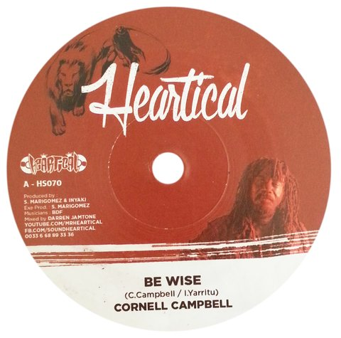 "7"" Cornell Campbell/Rootsamala - Be Wise/Dark Clouds [NM]"