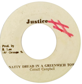 "7"" Cornell Campbell - Natty Dread In A Greenwhich Town/This Ya Version Ya Red [VG-]"