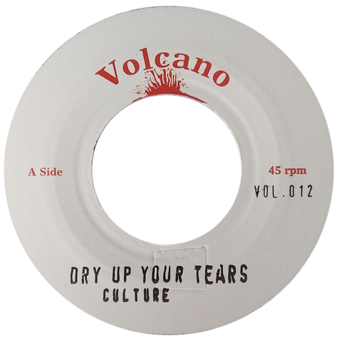 "7"" Culture - Dry Up Your Tears/Version [NM]"